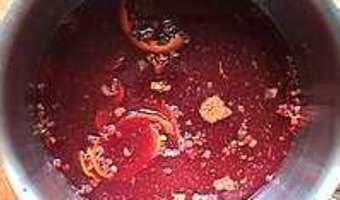 Pêches au vin rouge épicé - Etape 3