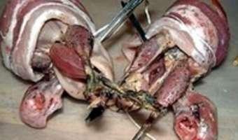 Bécassine rôtie sur pain d'épices - Etape 6