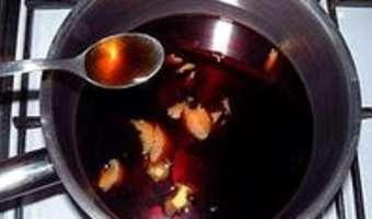 Poires pochées au vin rouge - Etape 3