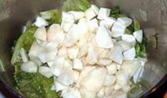 Potage aux topinambours et salade de saison - Etape 6