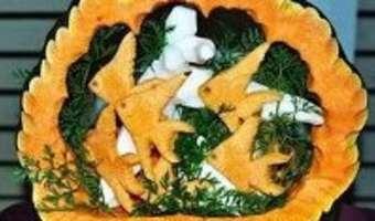 Sculpture de légumes de Michel Pio - Etape 3