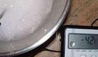 Produire du froid négatif sans appareillage - Etape 5