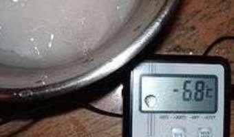 Produire du froid négatif sans appareillage - Etape 6