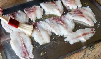 Salade de bar tiède à l'huile de noisette - Etape 6