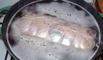 Galantine de canette - La cuisson controlée - Etape 2