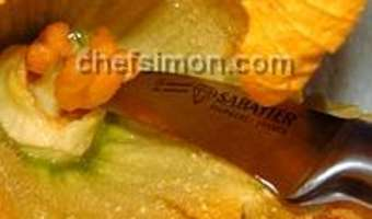 Beignets de fleurs de courgette - Etape 2