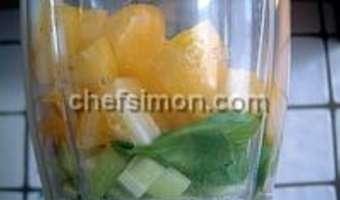Gaspacho tomates concombre et basilic - Etape 5