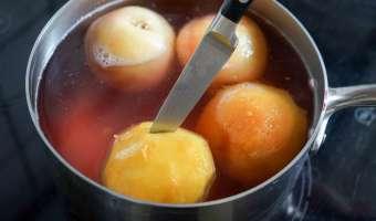 Pocher des fruits au sirop - Etape 5