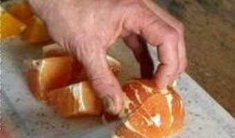 Sorbet pamplemousse orange - Etape 1