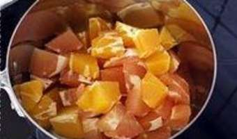 Sorbet pamplemousse orange - Etape 2
