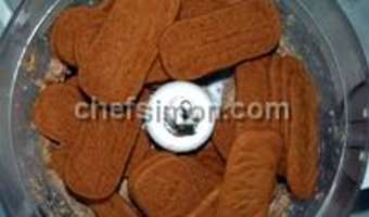 Fond de biscuits émiettés - Etape 3