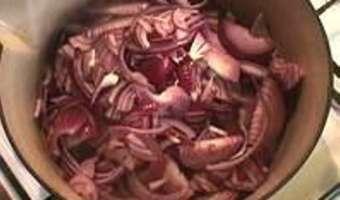Compote d'oignons rouges - Etape 4