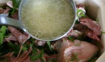 Terrine de jarret de porc aux herbes - Etape 8