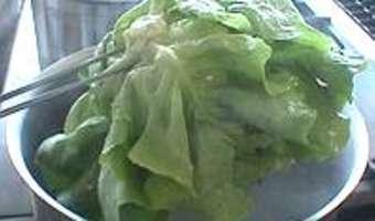 Parer et blanchir une laitue - Etape 4