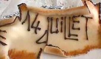 Parchemin en pâte d'amande - Etape 9