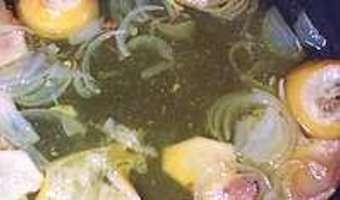Poulet au citron confit et gingembre - La sauce - Etape 1