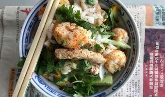 Wok de porc, crevettes et langoustines - Etape 10
