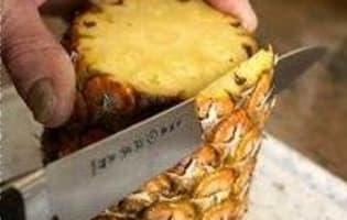 Préparer un ananas frais - Etape 4