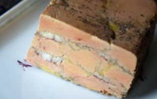 Terrine de foie gras à l'anguille fumée - Etape 12