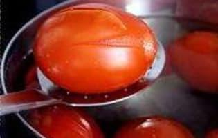 Monder une tomate - Etape 4