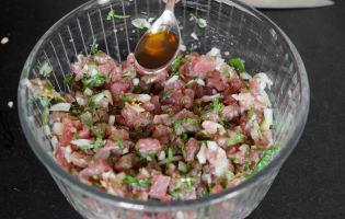 Tartare de thon aux saveurs asiatiques - Etape 9