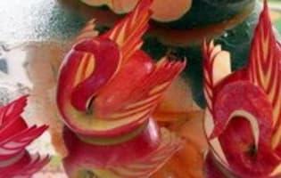 Sculpture de légumes de Michel Pio - Etape 6