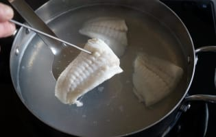 Filets de turbot pochés - Etape 5