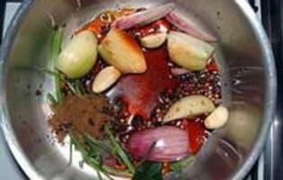 Beignets d'escargots façon asiatique - Etape 1