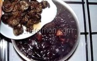 Escargots sauce au vin rouge - Etape 5