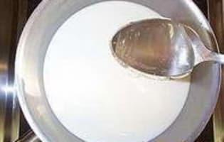 Glace chocolat miel - Etape 1