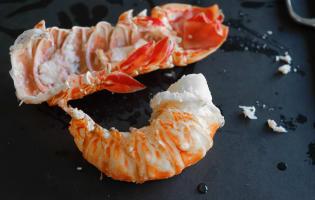 Queue de langouste pochée - Etape 10