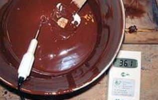 Tabler le chocolat au marbre - Etape 11