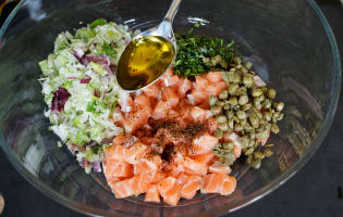 Tartare de saumon - Etape 10