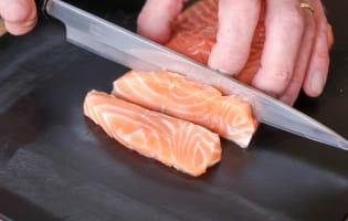 Tartare de saumon - Etape 2