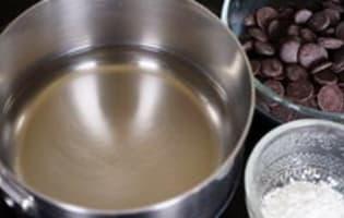 Sauce chocolat légère - Etape 1