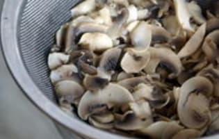 Velouté de champignons - Etape 12