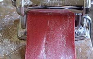 Pâtes fraîches colorées - Etape 7