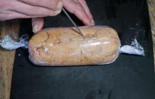 Ballotine de foie gras nature - Etape 6