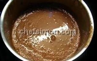Sauce et espuma carambar - Etape 4