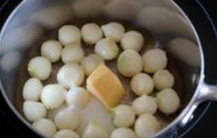 Petits oignons glacés - Etape 2