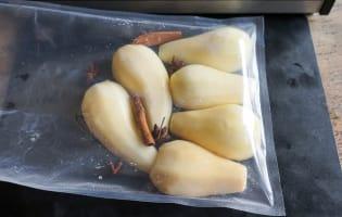 Poires cuites sous vide - Etape 3