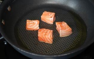 Dés de saumon mi-cuit - Etape 9