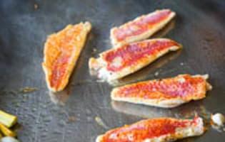Filets de rougets à la plancha - Etape 6