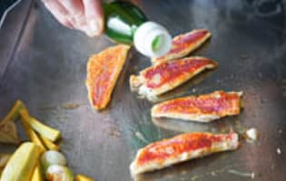 Filets de rougets à la plancha - Etape 7