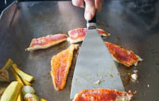 Filets de rougets à la plancha - Etape 8