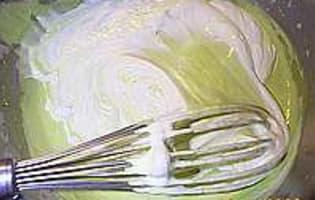 Bavarois pistache - Etape 5