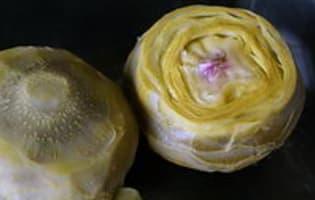 Cuire et parer un fond d'artichaut - Etape 3