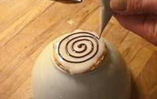 Marbrage en spirale - Etape 3