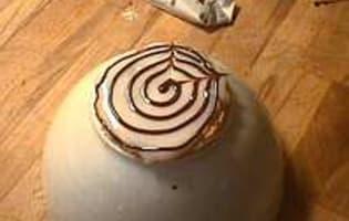 Marbrage en spirale - Etape 4