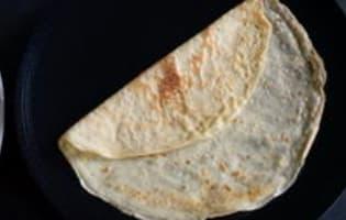 Crêpes en pannequets - Etape 1